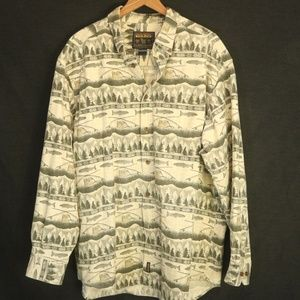 Woolrich Men's 3XL (56 in chest) Shirt Fish